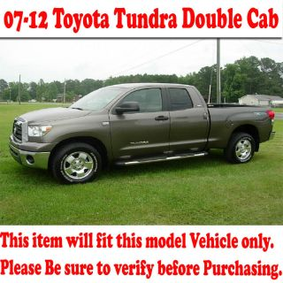 07 12 Tundra Double Cab Stainless Side Step Nerf Bars Polished Upgrade