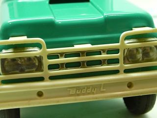 Buddy L Ford Pickup Truck w camper Toy Vintage 60s Spring Susp RARE No