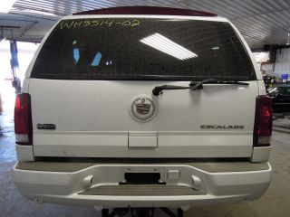 2002 Cadillac Escalade Sunvisor RH Tan Lighted Mirror