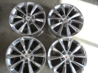 19 OEM Cadillac CTS XTS Polished Aluminum Wheels SUPER RARE Very
