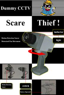 Outdoor Security CCTV Camera Spy LED Light Surveillance Motion