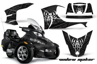 GRAPHIC DECAL WRAP KIT FOR BRP CANAM SPYDER RT CAN AM WIDOW MAKER BK