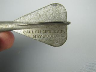 Vintage Callen Mfg Corp Die Cast Cap Grenade Throw Toy