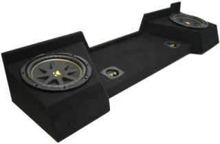 2007 2009 EXTENDED CAB KICKER LOADED C12 DUAL 12 SUBWOOFER BOX