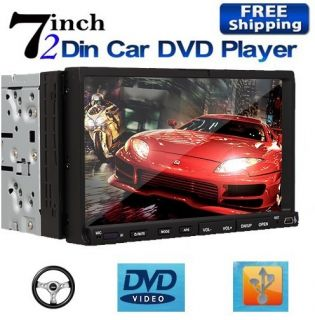 Screen Car Stereo DVD Player Radio Microphone USB SD Audio IR
