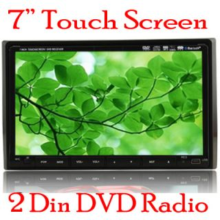 In Dash Head Unit 2Din 7 Car Stereo DVD CD Player Touch Screen Radio