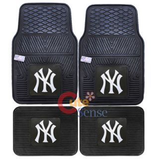 New York Yankees Car Floor Mat 4pc Utility FANMATS MLB Auto