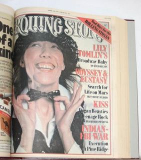 Unopened Rolling Stone Magazine Bound Volume with Issues 151 160 1 3 5