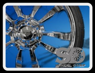 Skitch Chrome Wheels with 265 35 22 Capitol Sport Tires Rims