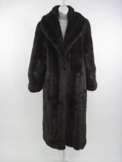 Carly Monterey Brown Faux Fur Long Jacket Coat Size 10