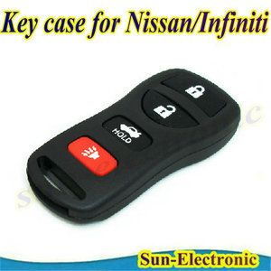 Car Keyless Remote Key Case Shell for Nissan Infiniti 4 Buttons FCC ID
