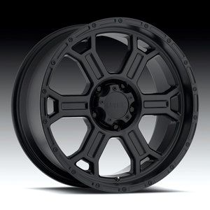 Raptor Matte Black Wheels Rims 8x6 5 8 Lug Chevy GM Dodge Truck