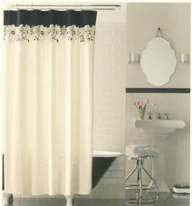 Casual Home Eyelet Embroidery Ivory Shower Curtain NIP