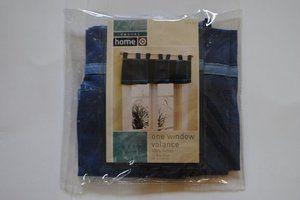 New Casual Home Blue Sailcloth Valance 54x15 NIP