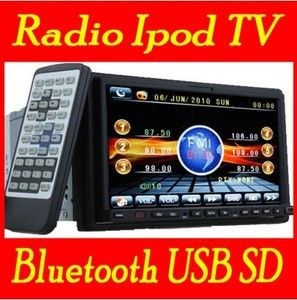 Double DIN DVD Audio Video Car Stereo CD DVD Player Touchscreen