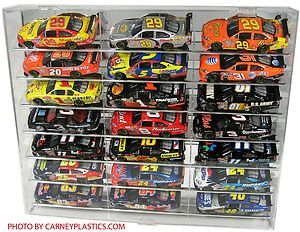 NASCAR Cot Diecast Display Case 21 Car Tilt Shelf 1 24