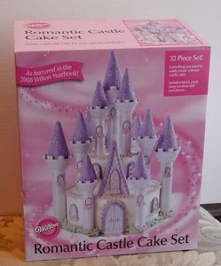 Wilton Romantic Castle Cake Set For Birthday PLUS Turntable 3