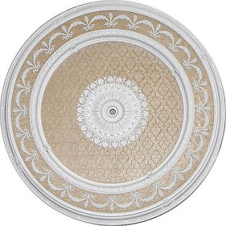 Napoli Ceiling Medallion Round White Beige 63 Dia New