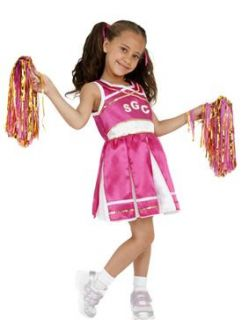 Kids Girls Cheerleader Costume Smiffys Fancy Dress Costume   S