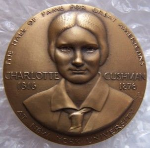 Charlotte Cushman Pegasus Medallic Art Hall of Fame for Great