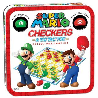 Nintendo New Super Mario Tic Tac Toe Combo Toys Gifts Checkers