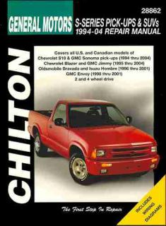 Chevy S10 GMC Sonoma Jimmy Repair Shop Manual 1994 1995 1996 1997 1998
