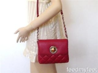 Kate Spade Gold Coast Charlize Red Quilted Clutch Shoulder Bag