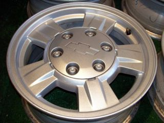 15 Chevrolet Colorado GMC GM Factory OEM silver Chevy wheels only
