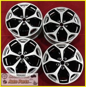 2012 CHEVY VOLT 17 SILVER WHEELS W/ INSERTS OEM FACTORY TAKE OFF RIMS