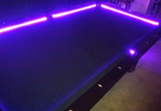 Bar Billiard Pool Table Bumper LED RGB Color Changing Light Beat to