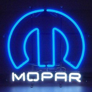 Neon sign Mopar Omega M Chrysler Plymouth Muscle Car Charger Dodge Ram