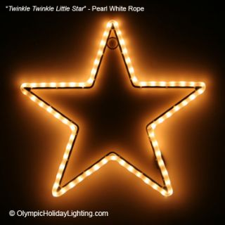 Twinkle Twinkle Little Star Christmas Rope Light Indoor Outdoor