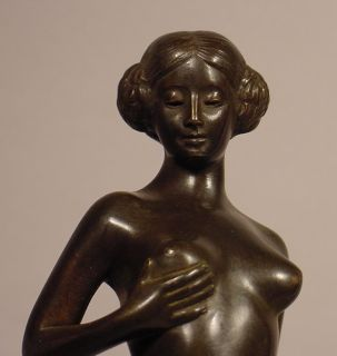 Art Deco Bronze Nude Woman German Circa 1915