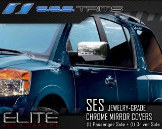 side 2004 2013 nissan titan ses chrome side mirror covers ses trims