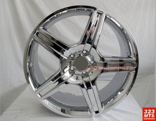 19 Rims Mercedes Benz s C E Wheels Chrome Rims 5 Lug