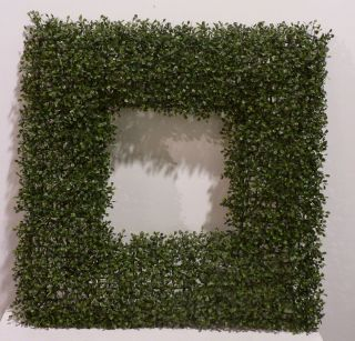 Artificial Boxwood Christmas Wreath 28 Square Contempory Boxwood