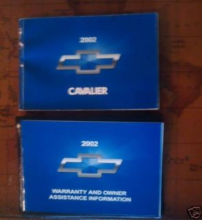 2002 02 Chevrolet Chevy Cavalier Owners Manual
