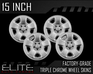 1998 2002 Subaru Forrester 15 Chrome Wheel Skin Covers