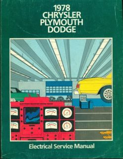 1978 CHRYSLER PLYMOUTH DODGE FACTORY SERVICE MANUAL SET, REPAIR MANUAL