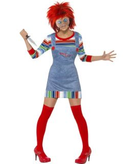 Ladies Chucky Childs Play Horror Film Character Fancy Dress Halloween