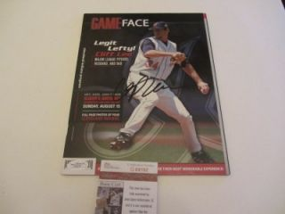 CLIFF LEE SIGNED AUTOGRAPHED GAME FACE BASEBALL MAGAZINE  JSA COA