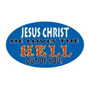 Christian Bumper Sticker Decal Jesus Christ Love