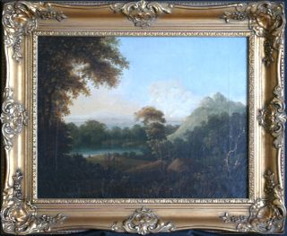 Richard Wilson RA c1780 Claudian Landscape Antique Oil Painting EX