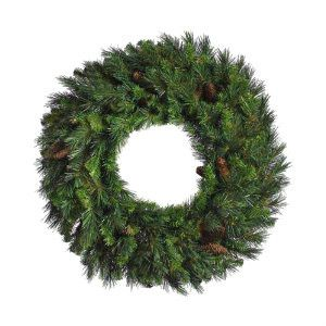 NEW 3 Ft Diameter Artificial Christmas Wreath 250 Tips Simulated Pine
