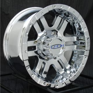 17 inch Chrome Wheels Rims Chevy HD Dodge RAM H2 8 Lug