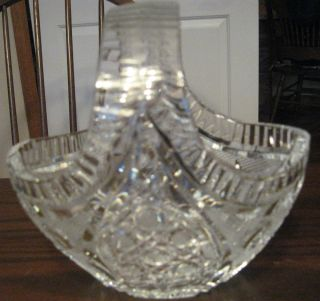 Beautiful Crystal Clear Glass Bowl Basket