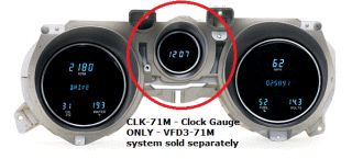 Dakota Digital 71 72 73 Ford Mustang Clock Kit CLK 71M for Use w VFD3