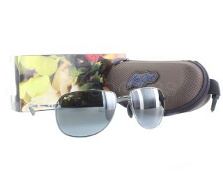 New Maui Jim Coconuts 322 02D Gunmetal Black Neutral Grey Sunglasses