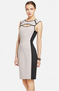 BCBGMAXAZRIA Colorblocked Sheath Dress