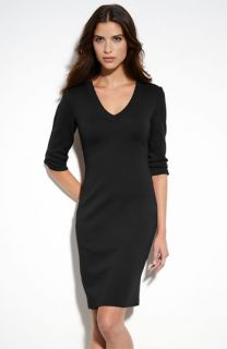 St. John Collection V Neck Milano Knit Dress